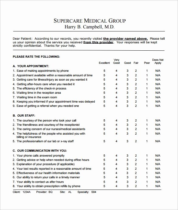 Patient Satisfaction Survey Template Inspirational 9 Feedback Survey Templates Download for Free