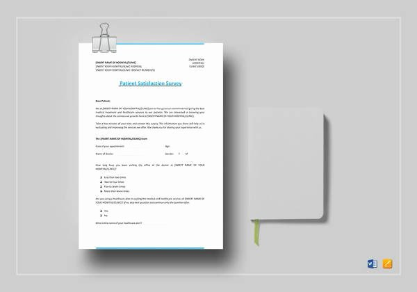 Patient Satisfaction Survey Template Lovely 11 Sample Patient Satisfaction Survey Templates to