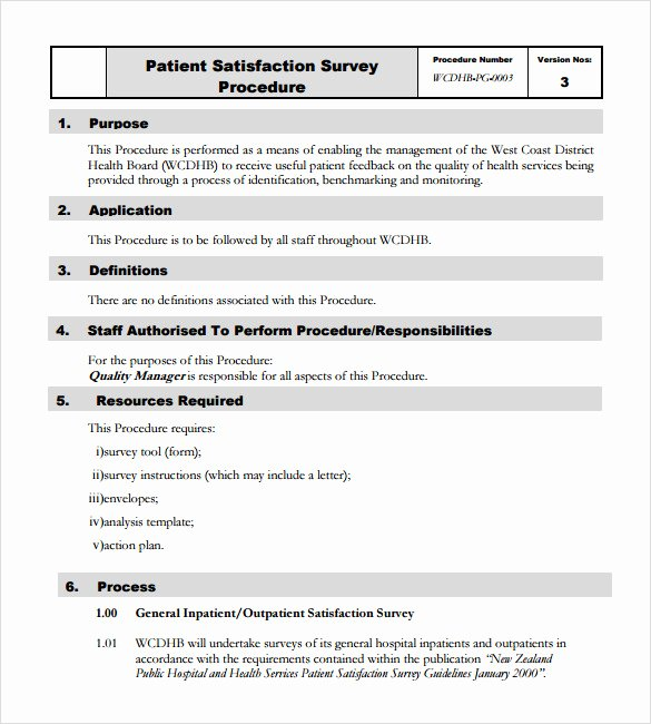 Patient Satisfaction Survey Template Luxury 10 Patient Satisfaction Survey Samples