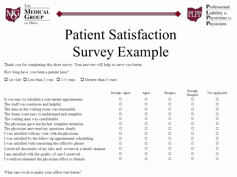 Patient Satisfaction Survey Template New Patient Satisfaction A Team Effort Video Line Download