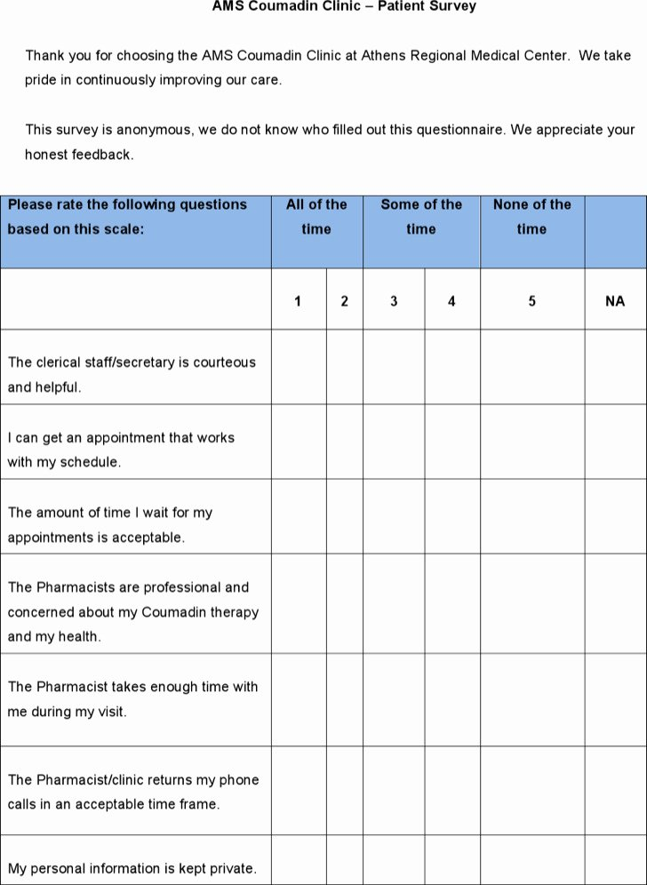 Patient Satisfaction Survey Template Unique 3 Patient Satisfaction Survey Template Free Download