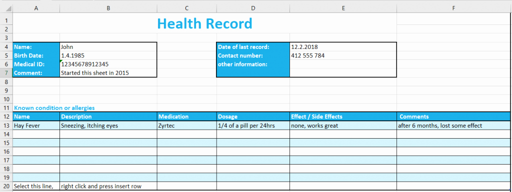 Patient Tracking Excel Template Fresh Patient Record Template Excel Excel Health Record Tracking