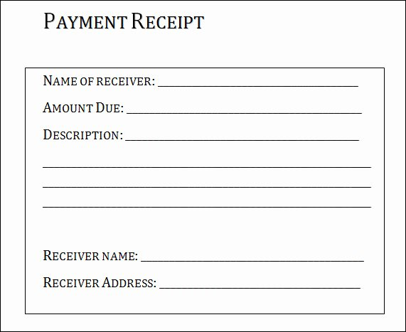 Payment Receipt Template Excel Awesome 31 Payment Receipt Samples – Pdf Word Excel Pages
