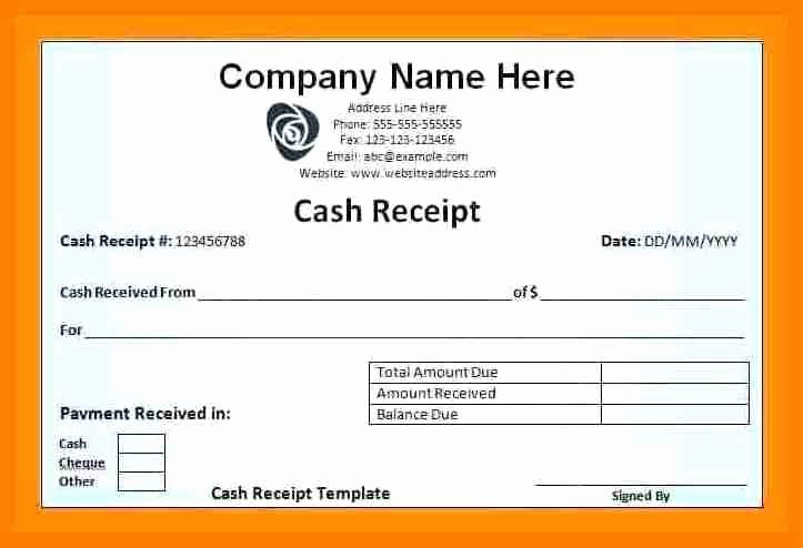 Payment Receipt Template Excel Awesome 5 Cash Salary Voucher format