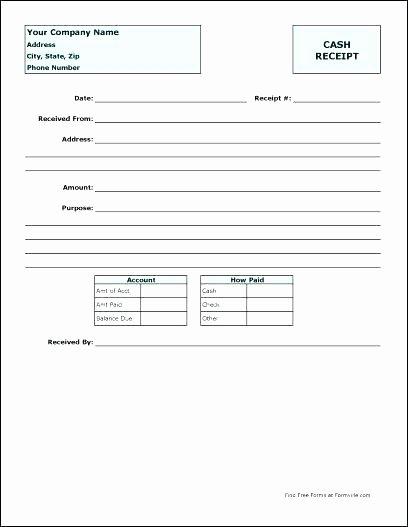 Payment Receipt Template Excel Best Of Best Cash Payment Voucher Template Petty south Africa