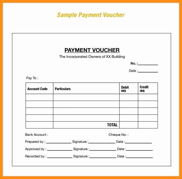Payment Receipt Template Excel Fresh Sample Payment Voucher Templat Ideasplataforma