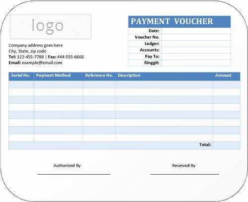 Payment Receipt Template Excel Fresh Simple Payment Voucher Template