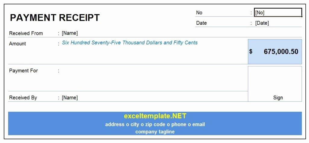 Payment Receipt Template Excel Inspirational Payment Receipt