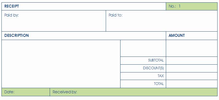 Payment Receipt Template Excel Inspirational Payment Receipt Template Easy Receipt Making