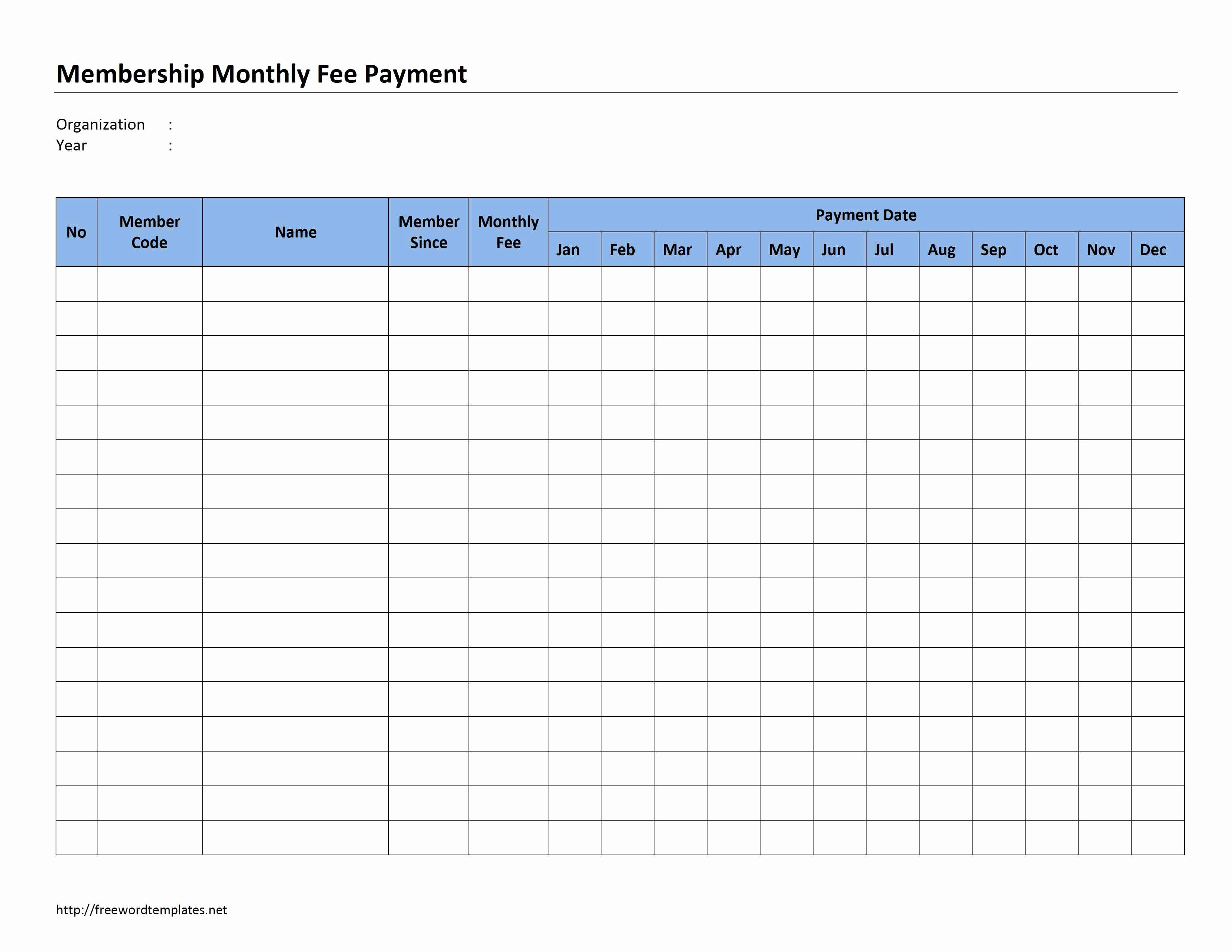 Payment Receipt Template Excel Lovely Monthly Invoice Template
