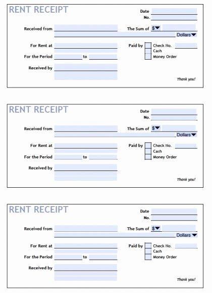 Payment Receipt Template Excel Unique Download Printable Rent Receipt Templates Pdf
