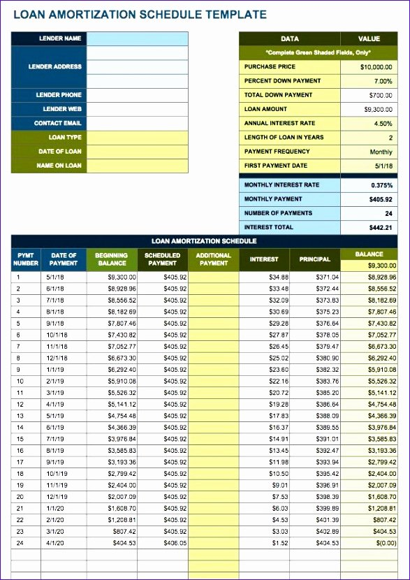 Payment Schedule Template Excel Beautiful 10 Amortization Table Excel Template Exceltemplates