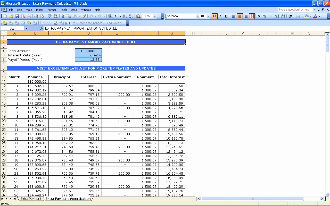 Payment Schedule Template Excel Beautiful Microsoft Excel Amortization Schedule Template How to