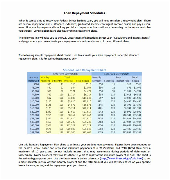 Payment Schedule Template Excel Luxury 11 Loan Payment Schedule Templates Free Word Excel