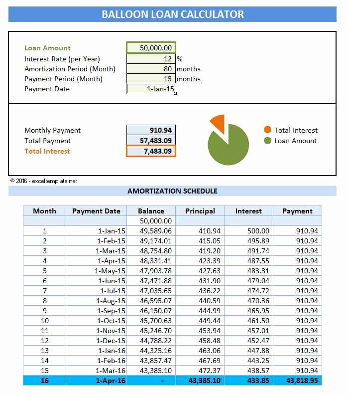 Payment Schedule Template Excel New 5 Loan Amortization Schedule Calculators