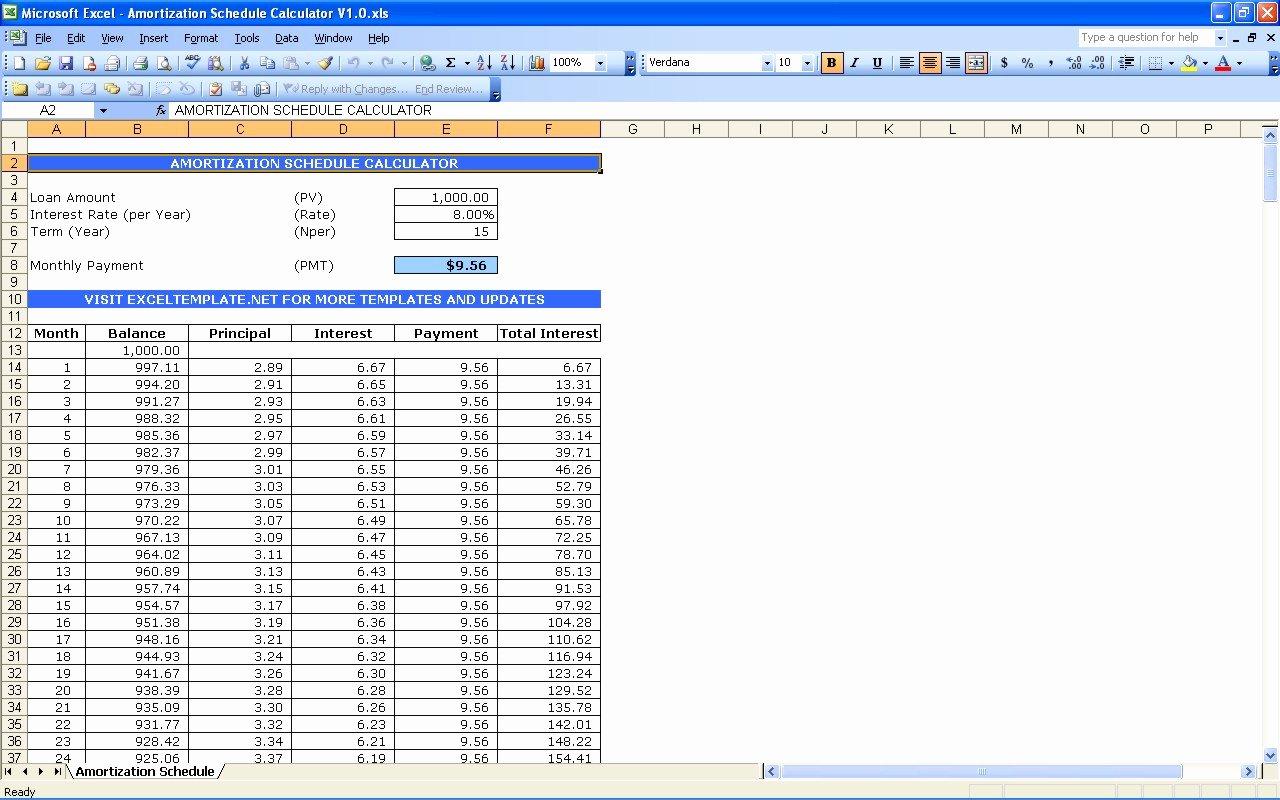 Payment Schedule Template Excel Unique Amortization Schedule Calculator