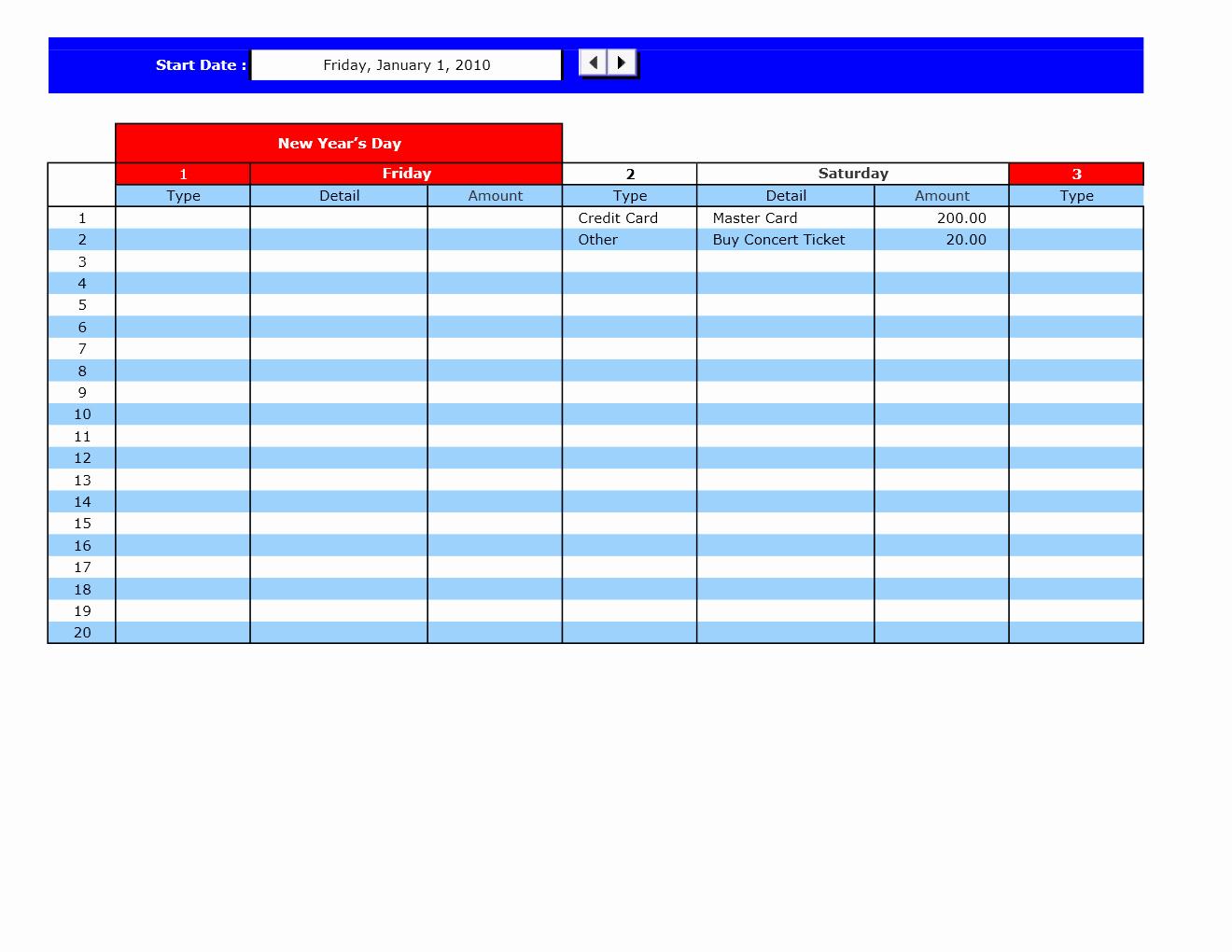 Payment Schedule Template Excel Unique Bill Payment Calendar Excel Templates