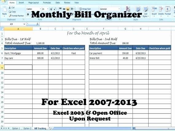 Payment Tracker Excel Template Inspirational Bill organizer Free Printable Monthly Bill organizer Bill