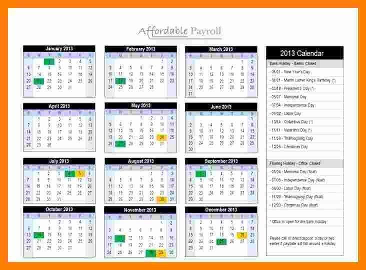 Payroll Calendar 2016 Template Elegant 6 Semi Monthly Payroll Calendar