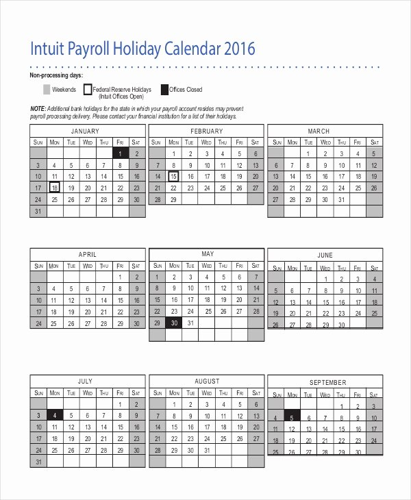 Payroll Calendar 2016 Template Luxury Payroll Calendar Template 10 Free Excel Pdf Document