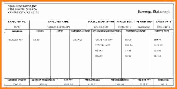 Payroll Check Printing Template Beautiful 5 Payroll Checks Templates Free