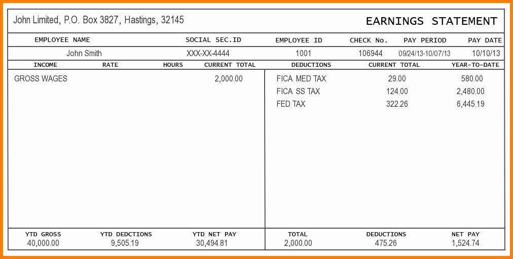 Payroll Check Printing Template Beautiful Free Check Stub Template Printables
