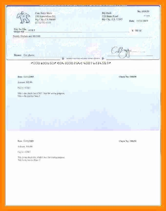 Payroll Check Printing Template Fresh 6 Blank Payroll Checks