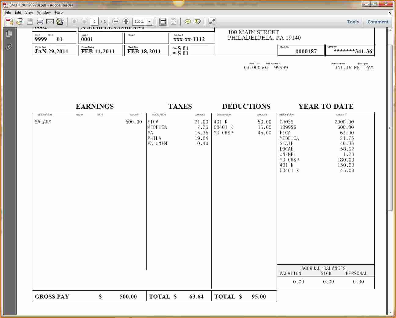 Payroll Check Printing Template New 9 Printable Payroll Checks
