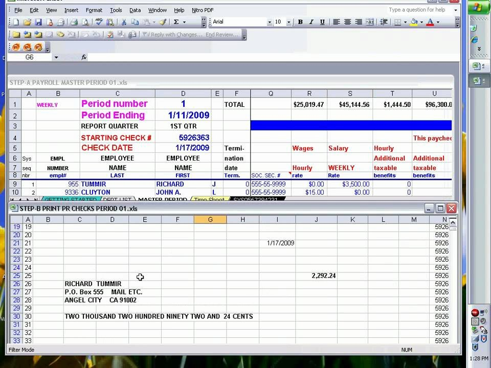 Payroll Check Printing Template New Payroll Checks Using Excel Ready to Print