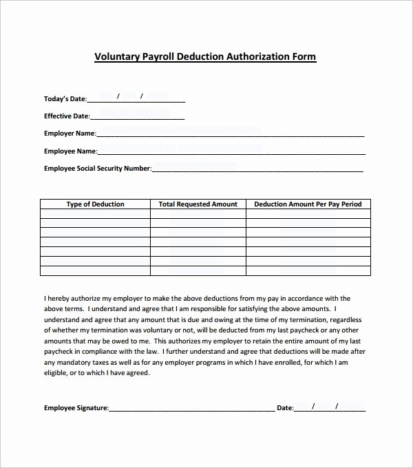 Payroll Deduction Authorization form Template Lovely 11 Payroll Templates Pdf Doc Xlsx