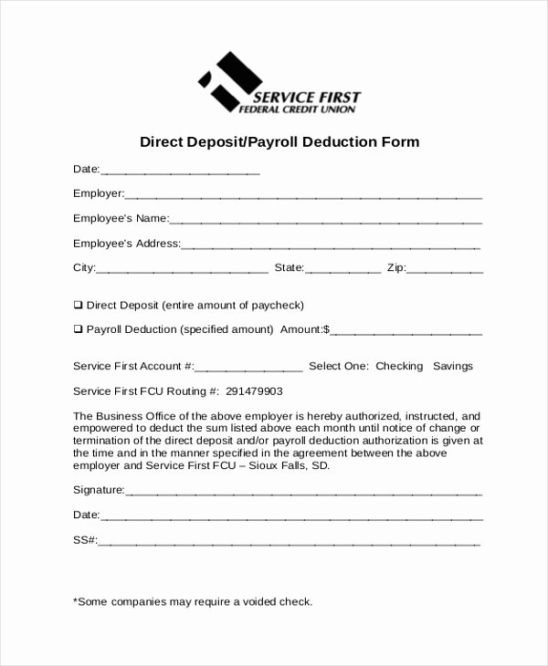 Payroll Deduction Authorization form Template New Sample Payrolle Deduction form 12 Free Documents In Pdf