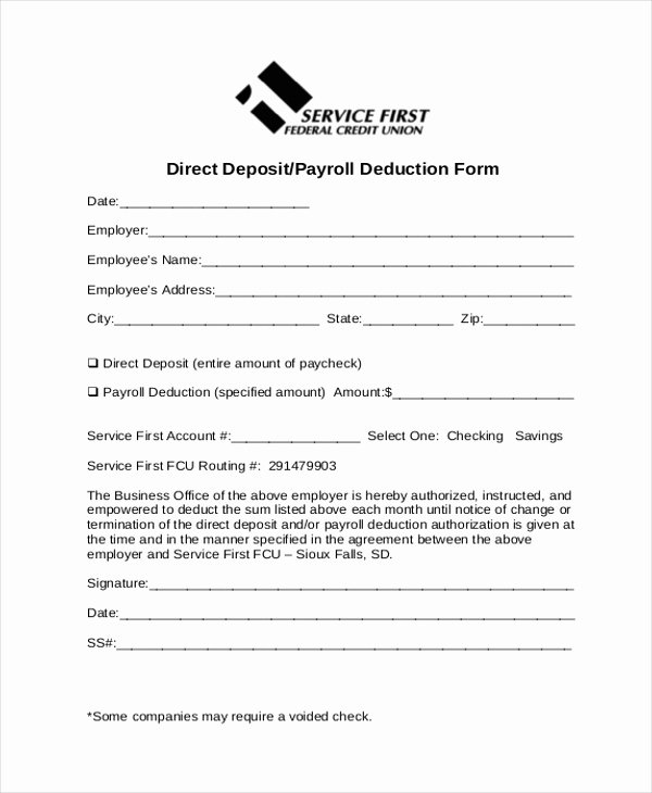 Payroll Deduction form Template Awesome Employee Payroll Deduction Authorization form Template
