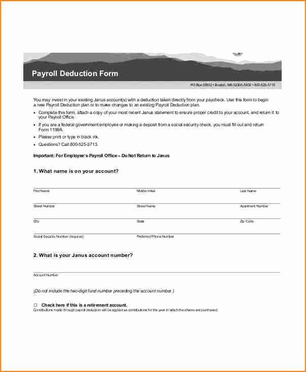 Payroll Deduction form Template Fresh 5 Payroll Deduction Authorization form Template Free