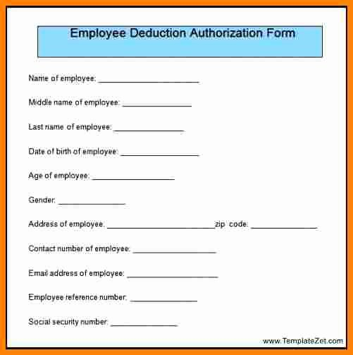 Payroll Deduction form Template New 5 Payroll Deduction Authorization form Template