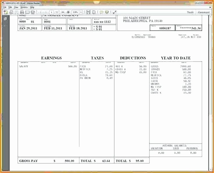 Payroll Stub Template Excel Best Of 15 Paystub Sample