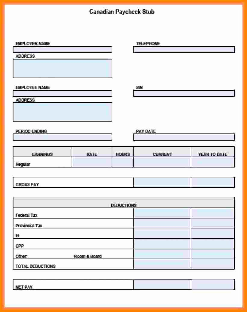 Payroll Stub Template Excel Fresh 12 Pay Stub Example Excel