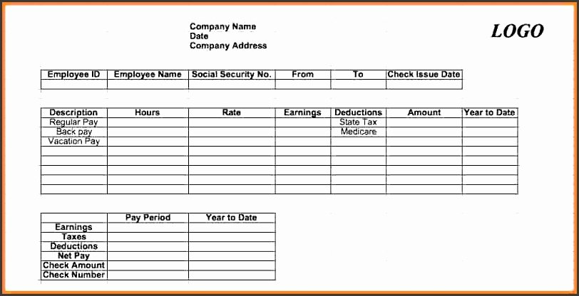 Payroll Stub Template Excel Lovely 6 How to Make Pay Stub Sampletemplatess Sampletemplatess