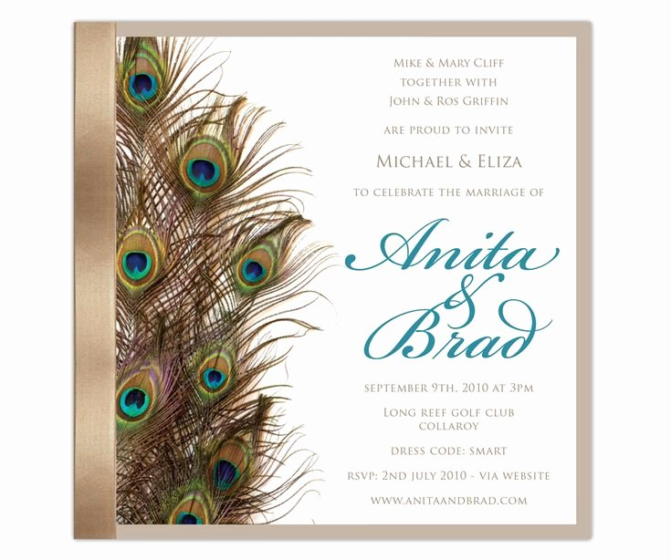 Peacock Wedding Invitations Template Awesome 30 Best Inbjudningar Images On Pinterest
