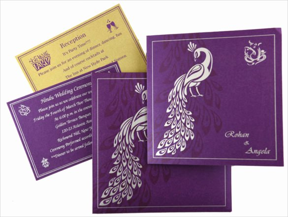 Peacock Wedding Invitations Template Best Of 23 Peacock Wedding Invitation Templates – Free Sample