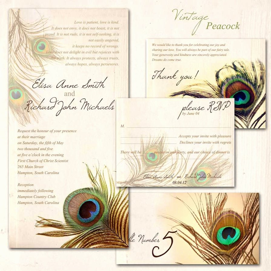 Peacock Wedding Invitations Template Fresh Peacock Wedding Invitations Templates
