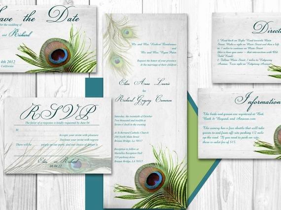 Peacock Wedding Invitations Template Fresh Unavailable Listing On Etsy