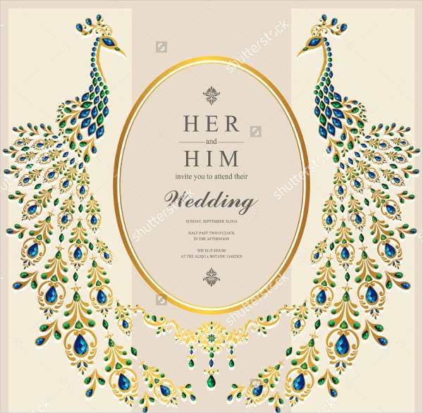 Peacock Wedding Invitations Template Inspirational 50 Sample Wedding Invitations Psd Ai Vector Eps