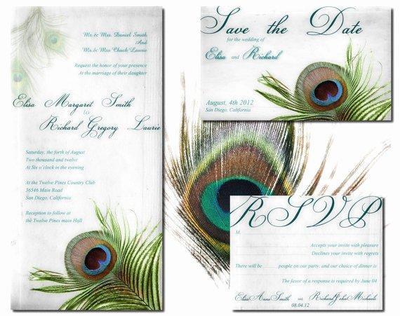 Peacock Wedding Invitations Template Inspirational Peacock Wedding Invitation Printable Template atlanta