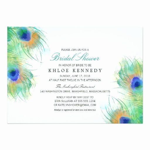 Peacock Wedding Invitations Template Luxury Peacock Feather Wedding Invitation Template Lovely 872