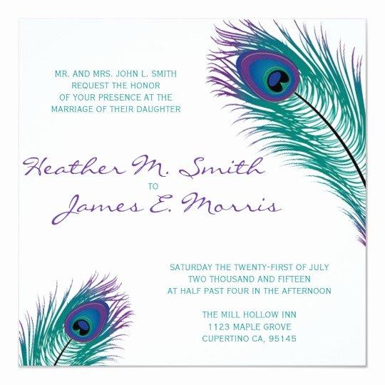 Peacock Wedding Invitations Template Luxury the Classy Peacock Wedding Invitation