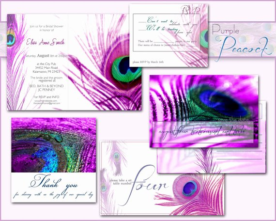 Peacock Wedding Invitations Template New Peacock Wedding Invitation Printable From Designedwithamore On