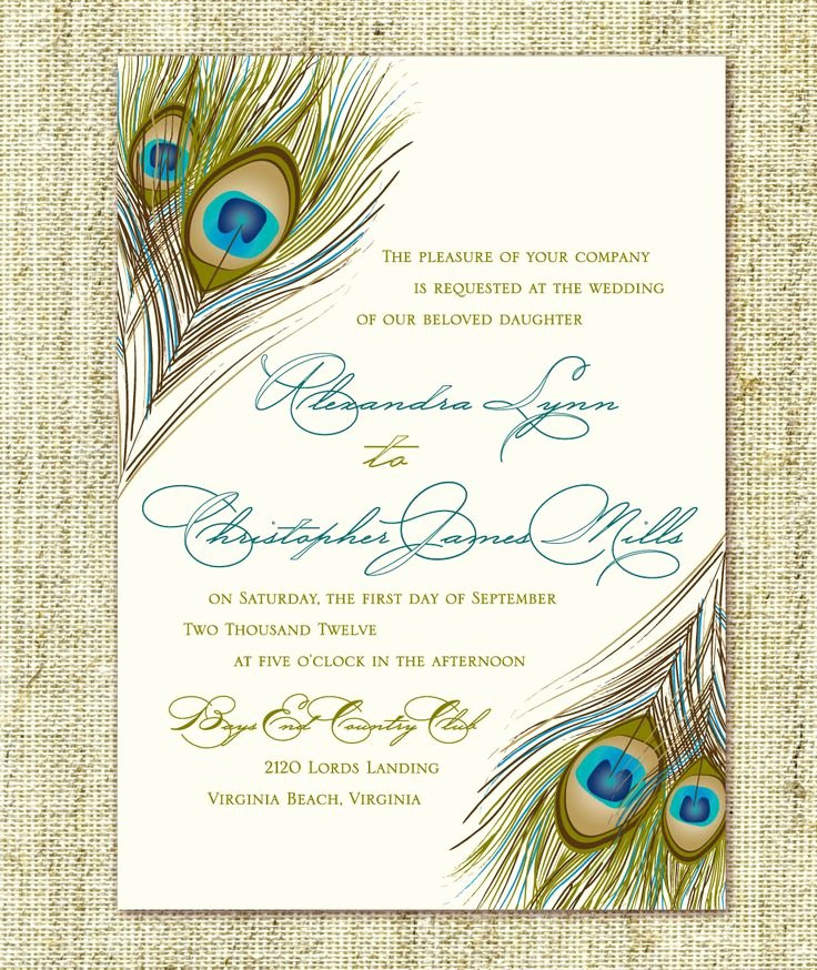 Peacock Wedding Invitations Template Unique 784 Best Invitation Motivation Images On Pinterest