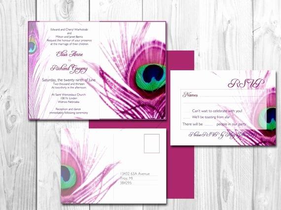 Peacock Wedding Invitations Template Unique Peacock Wedding Invitations Elegant Peacock by