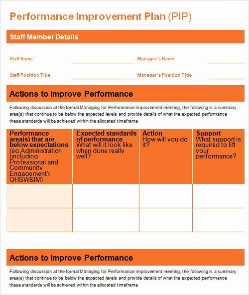 Performance Action Plan Template Elegant 27 Plan Templates