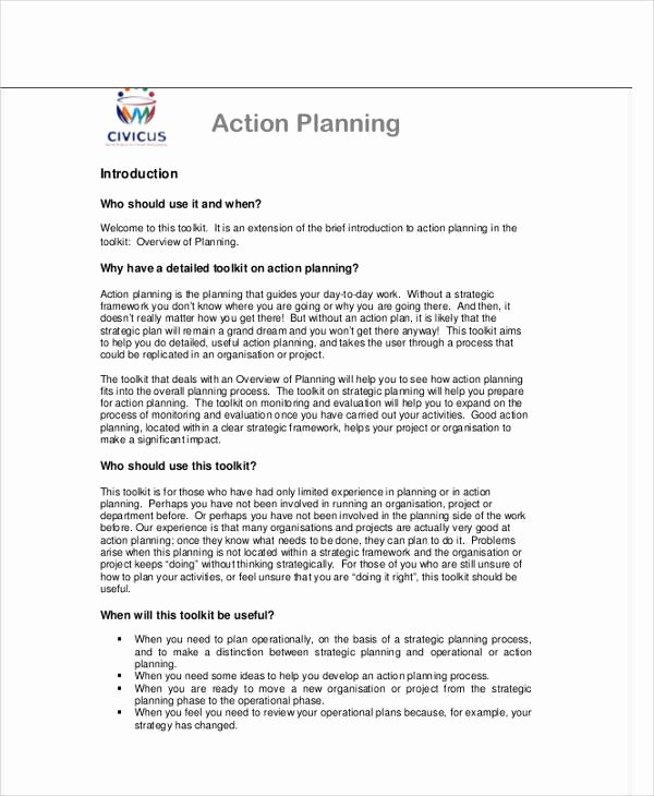 Performance Action Plan Template Lovely Performance Action Plan Templates 7 Free Word Pdf